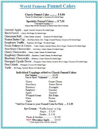 Rocky Mountain Funnel Cakes : Dessert Menu