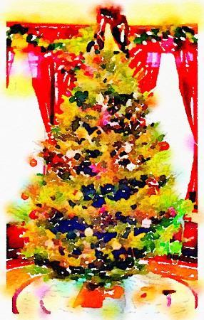 Σπρίνγκφιλντ, Βερμόντ: Great room tree--a natural beauty