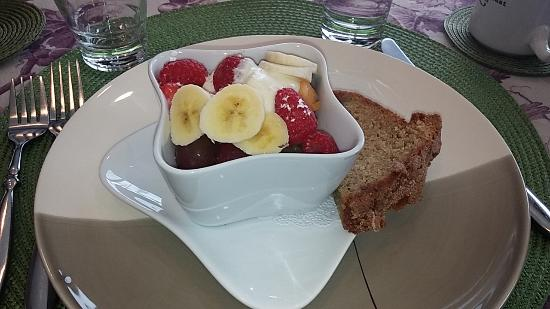 Woodland Trails Bed and Breakfast: Breakfast 1st course