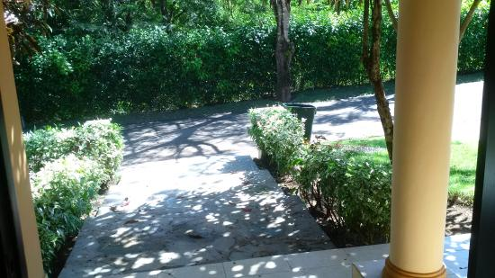 looking out front door. Residencial Casa Linda: Looking Out Front Door To Main Entrance Road N