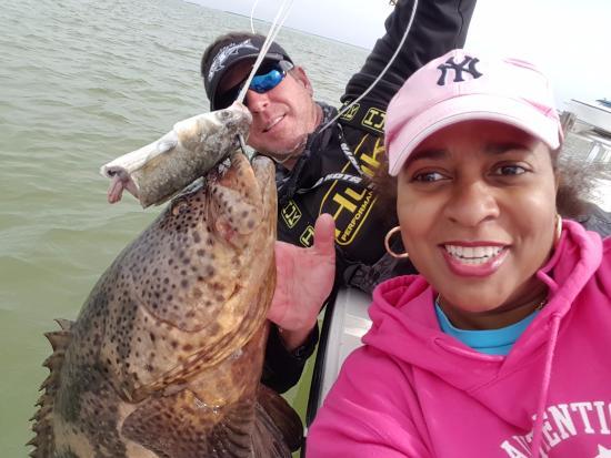 Boca Grande, FL: Que's 50lb Goliath Grouper- Still in the water!