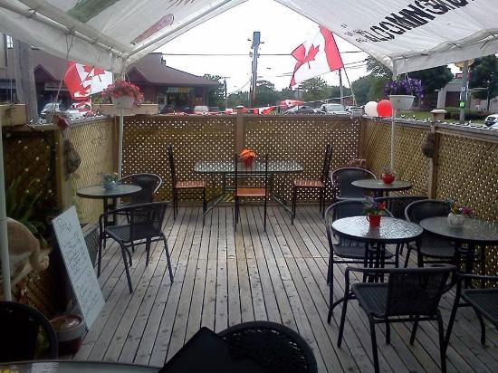The Blooming Cafe: Licensed Patio Happy Hour Barbecues In The Summer