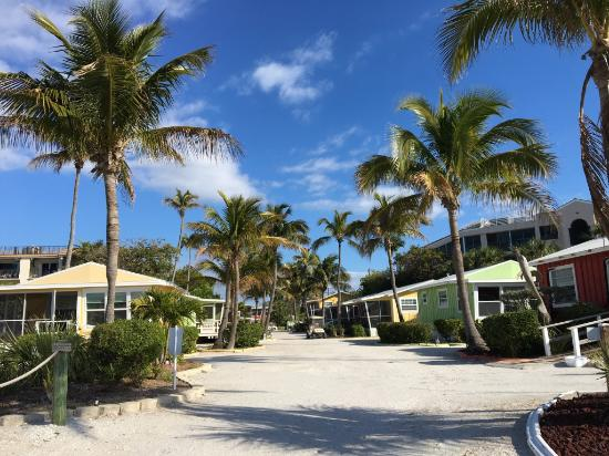 Sanibel Island Cottages: View Of Cottages From Beach