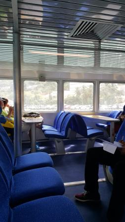 Road Town Fast Ferry : Comfortable seats, some with tables.