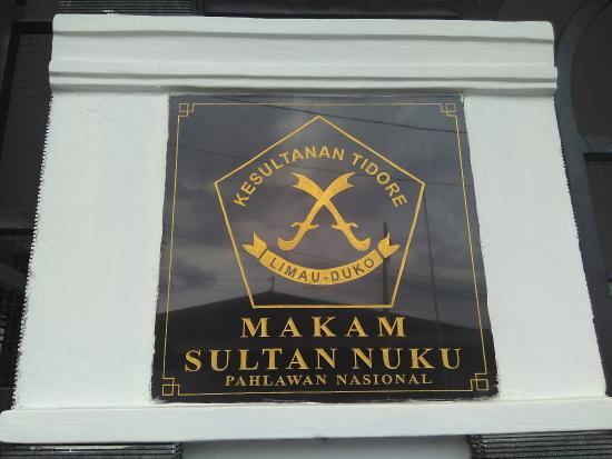 Tidore, Indonesia: Makam Sultan Nuku