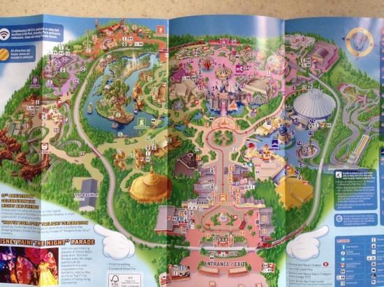 Hong Kong Disneyland Map Map   Picture of Hong Kong Disneyland, Hong Kong   TripAdvisor Hong Kong Disneyland Map