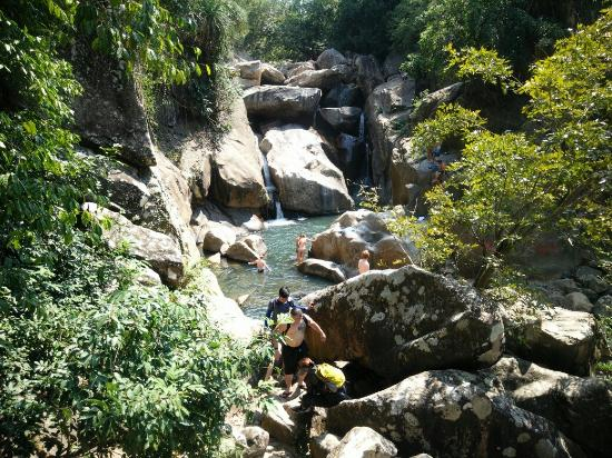 Cycle to waterfall picture of vietnam bike tours nha for Waterfall cycle