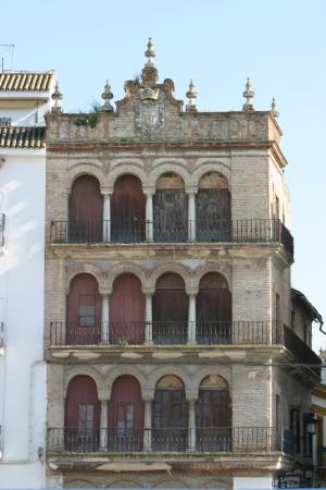 Ecija, Španělsko: Mirador de los Marqueses de Benamejí, Plaza de España.
