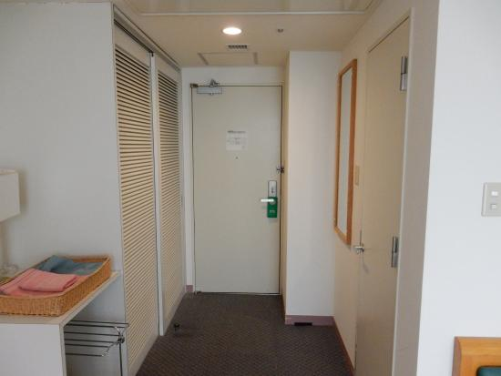 Hotel Sun Rural Ogata: 部屋の中から見た入口ドア