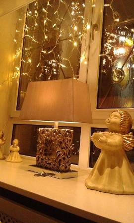 Hotel Zur Heimat: beautiful Christmas decorations in the hotel restaurant