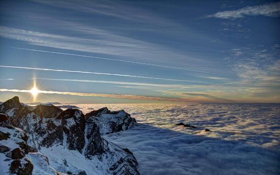 Kanton Nidwalden, Schweiz: Nebelmeer fotografiert vom Pilatus