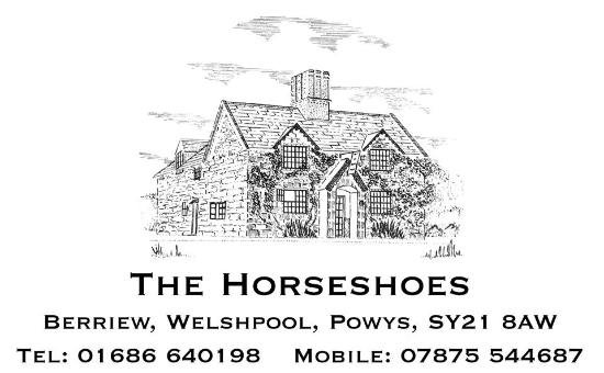 Berriew, UK: Horseshoes