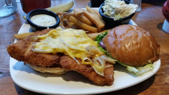 Fried fish sandwich picture of white river fish house for Fried fish restaurant