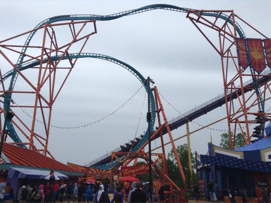 Alpengeist great name bad coaster load station well - Busch gardens williamsburg rides ...
