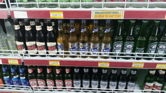 Beers of the world very affordable - Picture of Bintang ...
