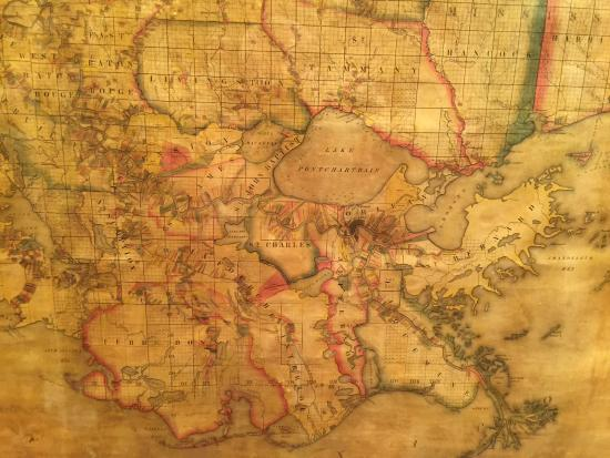 Darrow Louisiana Map.An Old Map Rediscovered Picture Of Houmas House Plantation And