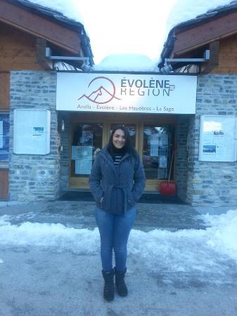 St. Niklaus, Suiza: Entrada da comuna de Evolene
