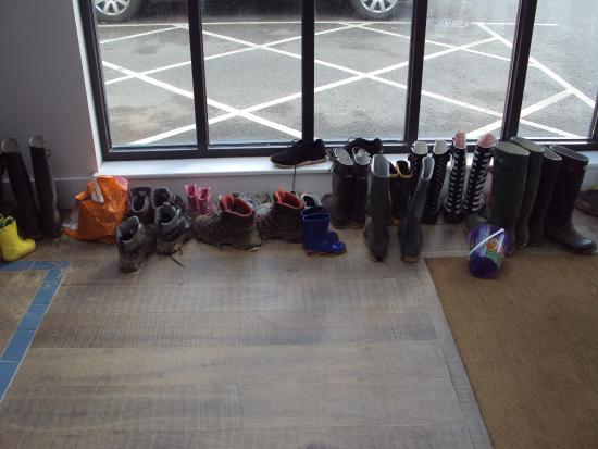 Watergate Bay Hotel: Sandy boots and shoes can be left near the door.