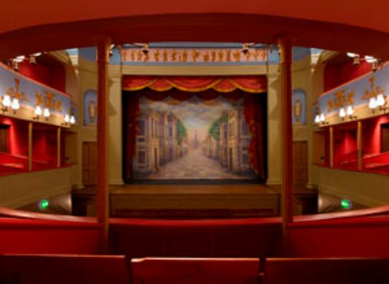 Theatre Royal, Bury St. Edmunds: A view of the stage from the Dress Circle
