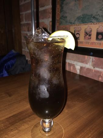 the Sovereign Room: The Entrée and the Long Island Ice Tea. I had while enjoying dinner there.