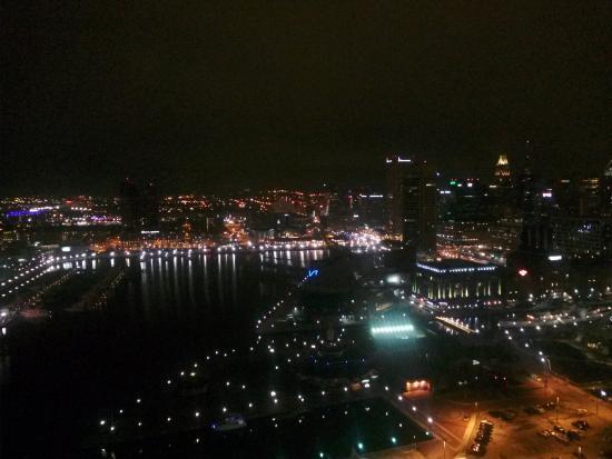 night time view of baltimore inner harbor from the room picture rh en tripadvisor com hk