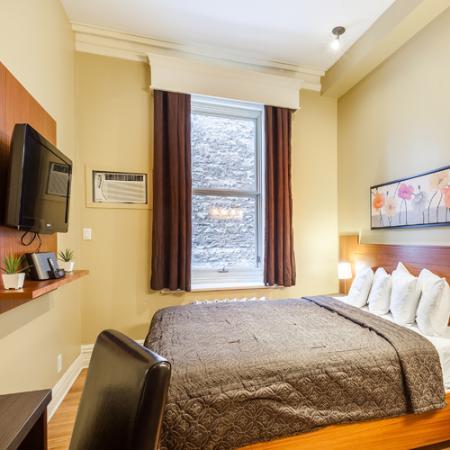 Hotel l'Ermitage: Chambre Simplicité | Hôtels Nouvelle-France