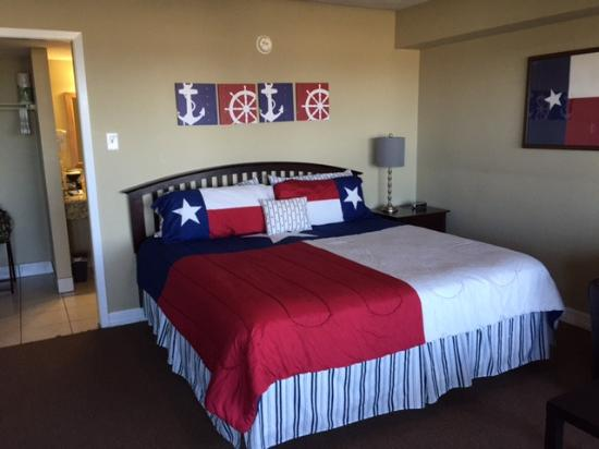 Laguna Reef Condominiums: The Texas Room, 104.  Nice decor and nice view of the gulf.