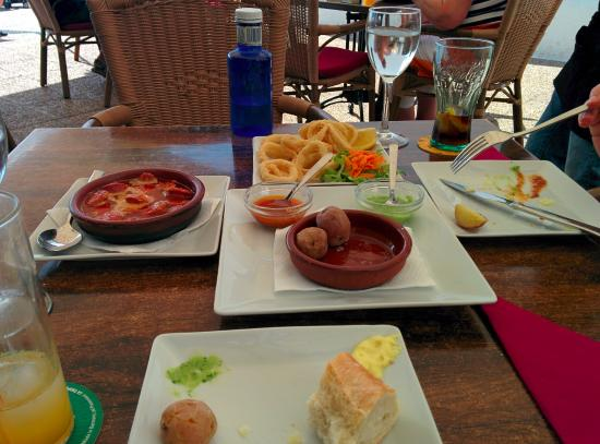 La Katedral: Squid rings, Canarian Potatoes and Chorizo in Cider