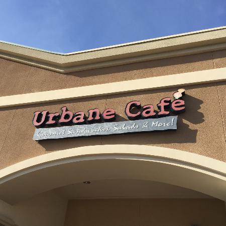 Urbane Cafe: From the parking lot