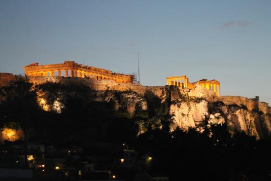 أثوس: La Acropolis desde mi ventana!