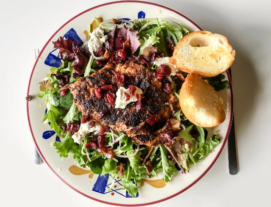 Pecan crusted chicken salad - Picture of Red Rae's Restaurant, Panama ...