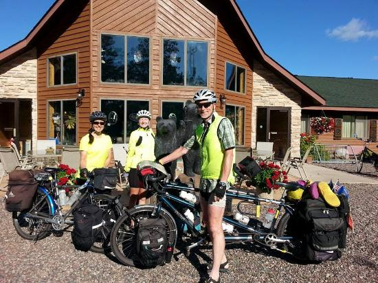Boulder Junction, WI: Cross-Country riders, Seattle to Maine