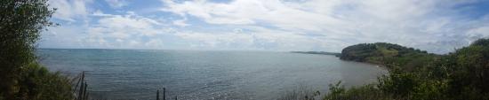 Piste de Château Paille: Panorama sur la baie