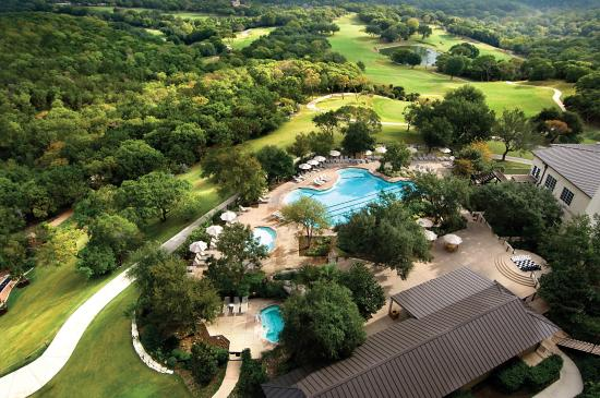 Omni Barton Creek Resort & Spa : Resort Pool, aerial view