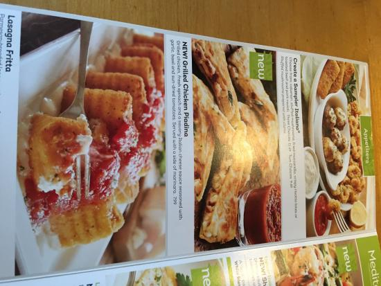 Menu Picture Of Olive Garden Mobile Tripadvisor