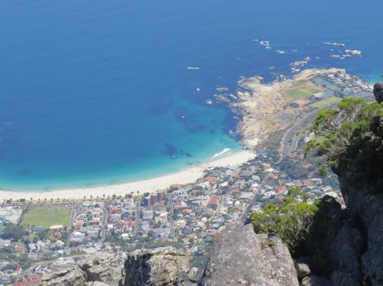 Camps Bay, South Africa: Camp's Bay beach from top of Table Mountain