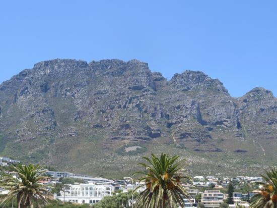 Camps Bay, South Africa: The mountains - from the beach