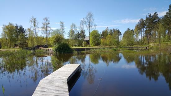 Nivelax, Finland: Golfbana, hål 18