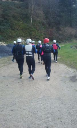 Kilkenny, Irlanda: The group heading off
