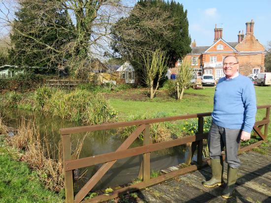 Coltishall, UK: borrowed wellies for a walk in the garden
