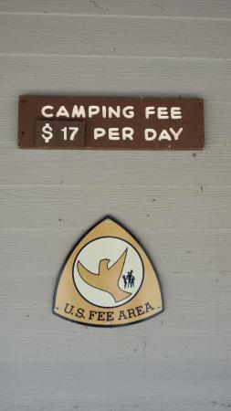 Townsend, TN: Camping fee $17/day for tents or RVs