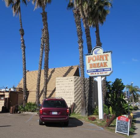 Point Break Cafe: red carpet entry