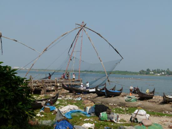 Bijus Tourist Home: Chinese fishingnets in Kochi