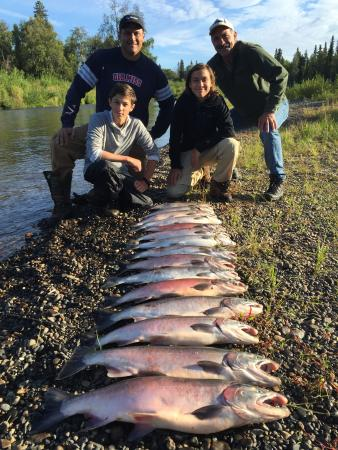 Silver salmon fishing trips close to anchorage on the for Salmon fishing anchorage