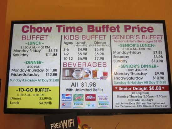 Superb Chow Time Menu Picture Of Chow Time Buffet And Grill West Beutiful Home Inspiration Xortanetmahrainfo