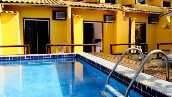 Barra da Lagoa Hotel : Quartos que fiquei e proximidade com area da piscina