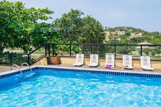 Barra da Lagoa Hotel : Foto tirada do quarto pra piscina