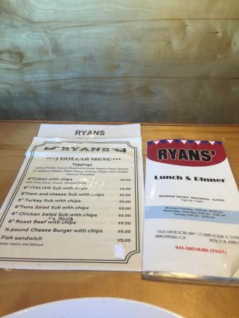Ryan's Subs and Sports Grill