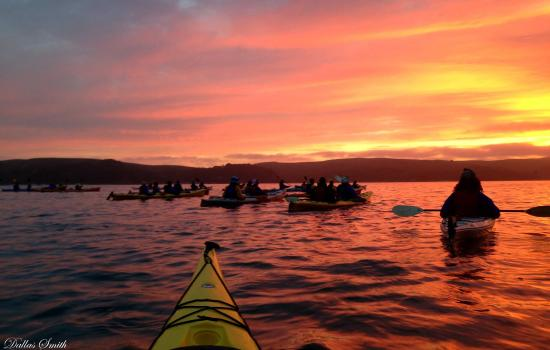 Marshall, CA: Sunset on Tomales Bay