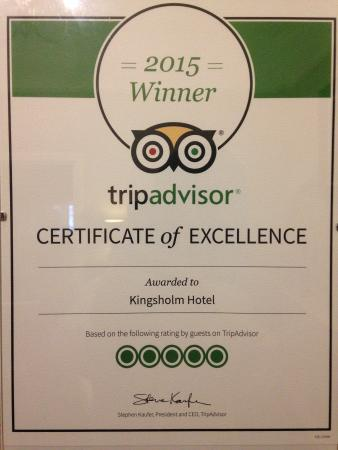 Kingsholm Hotel: Trip Advisor
